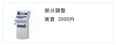 部分調整 実費2000円